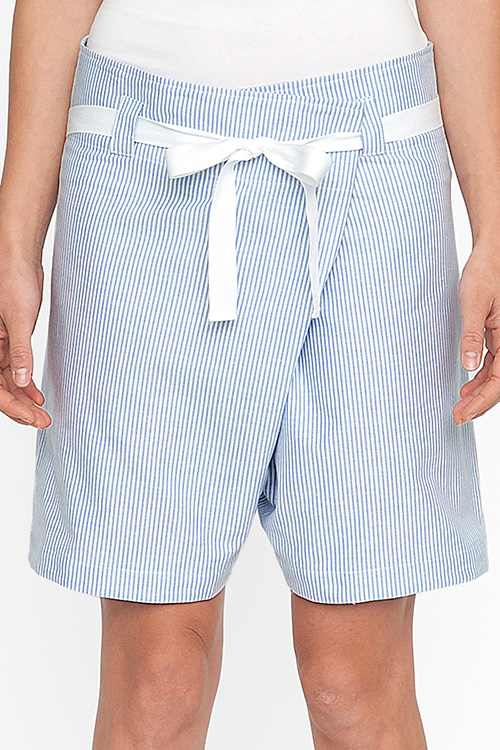 The Sleep Shirt Fisherman's Short Blue Oxford Stripe