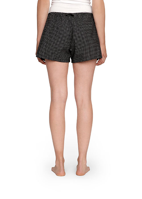 The Sleep Shirt Pleat Short Black Polka Dot