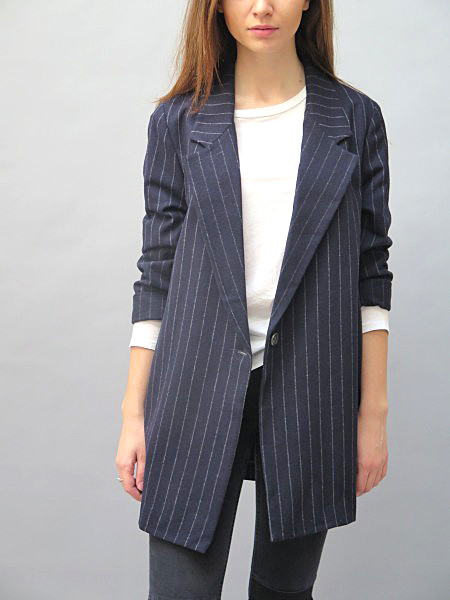 Koch Annie Jacket Navy Stripe