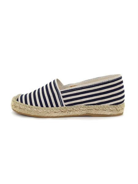 LARO Classic Blue Stripes Espadrille