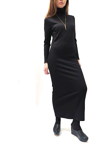 SUNJA LINK Knit Turtleneck Dress