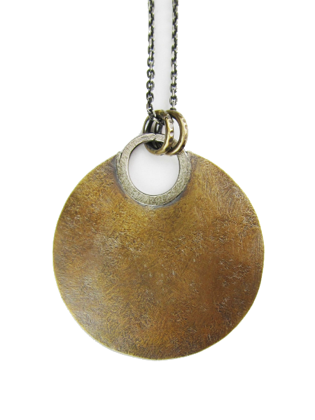 CUYLER HOVEY KING Plain Brass Sun Disk Necklace