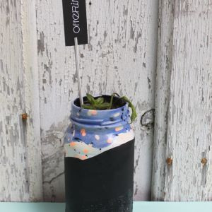 Offering Hand Painted Glass Planter - Biggie