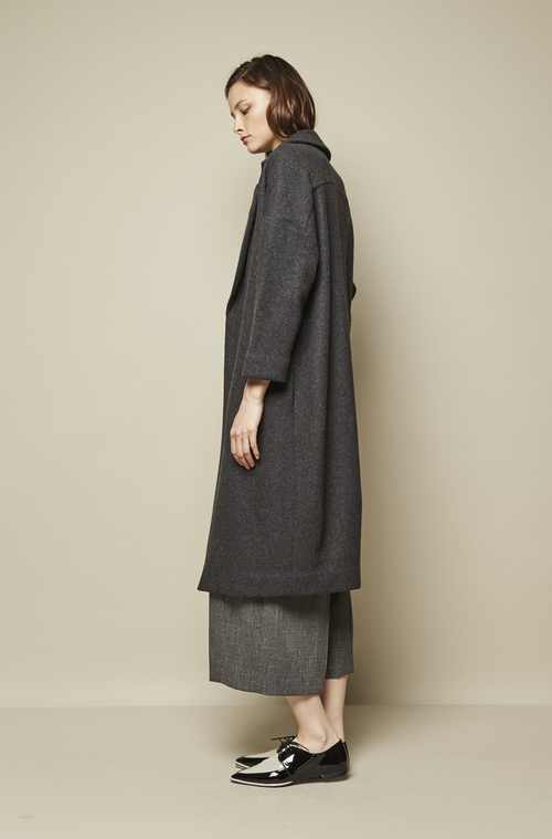 DROPPED SHOULDER OVERSIZED LONG COAT