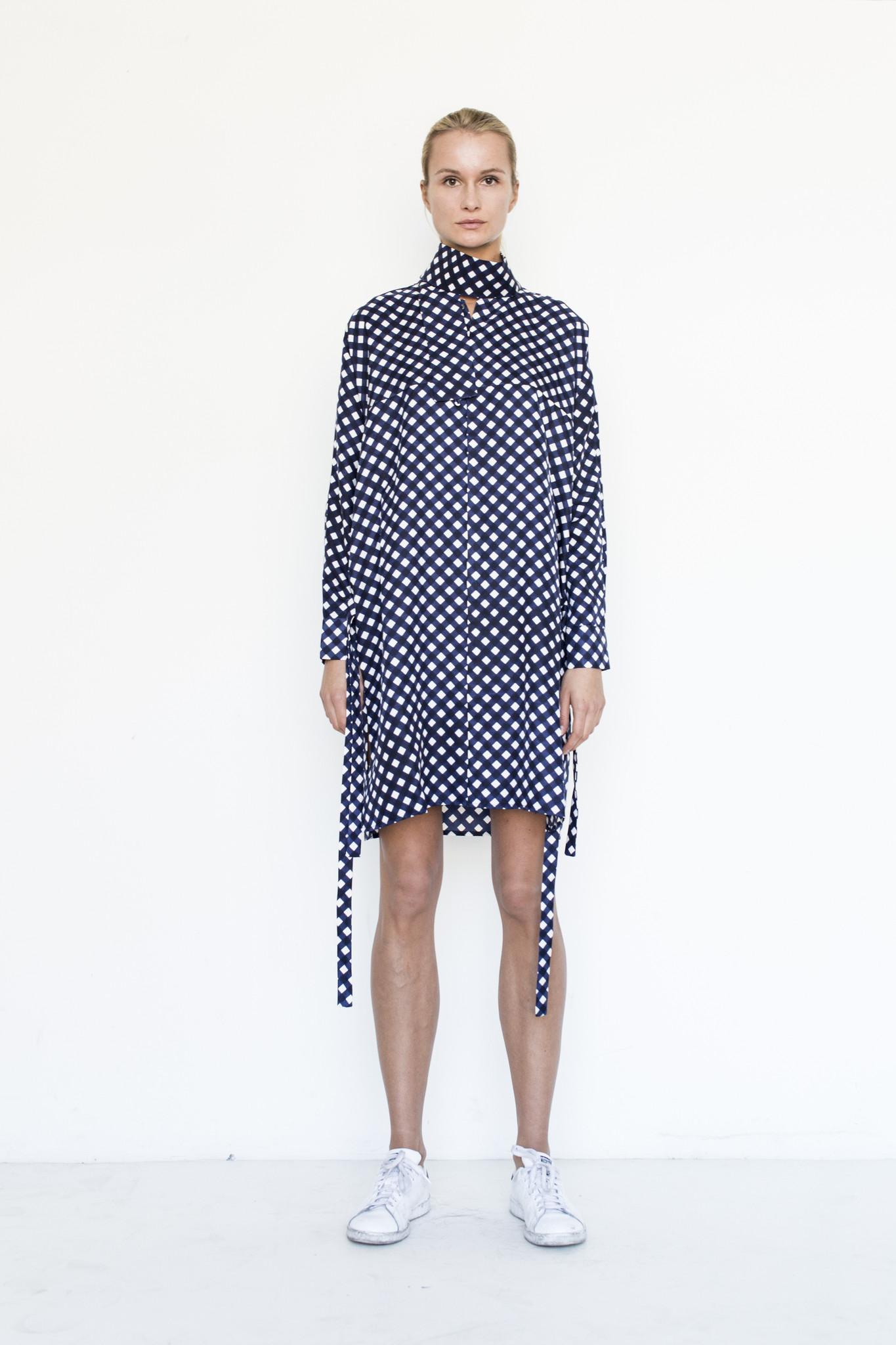 ffixxed collar dress from assembly garmentory