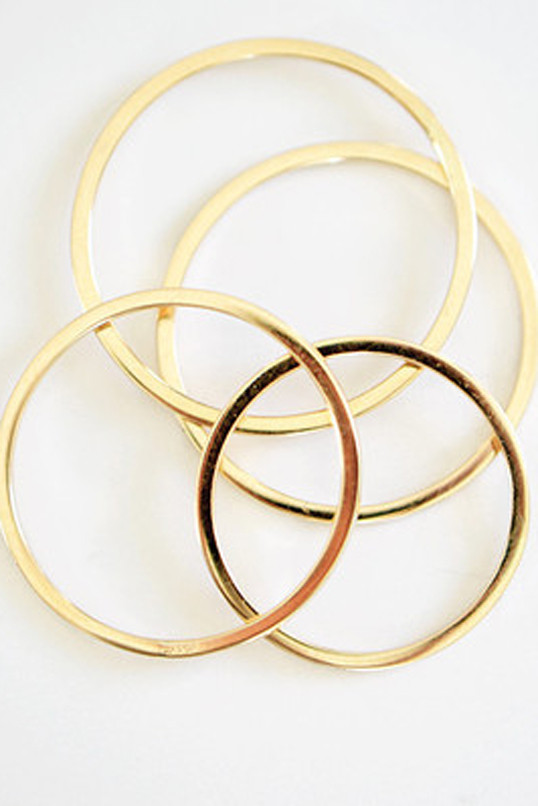 Kristen Elspeth Gold Thread Ring