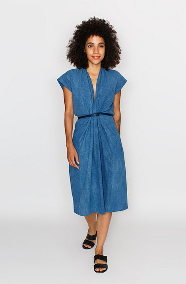 Miranda Bennett Studio Tempest Dress Indigo