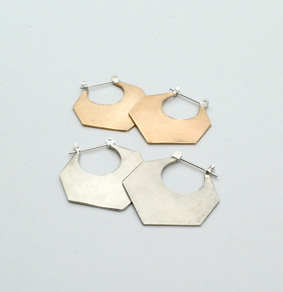 Knuckle Kiss Geo Hoop Earrings