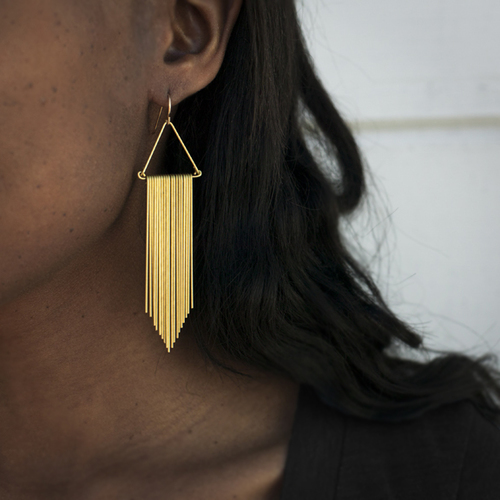 Hellbent Fringe Chevron Earrings