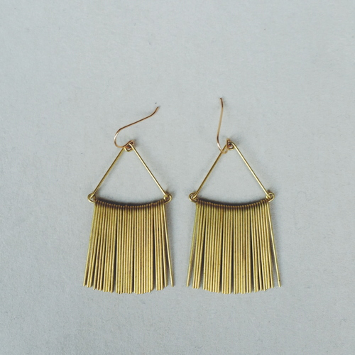 Hellbent Triangular Fringe Earrings