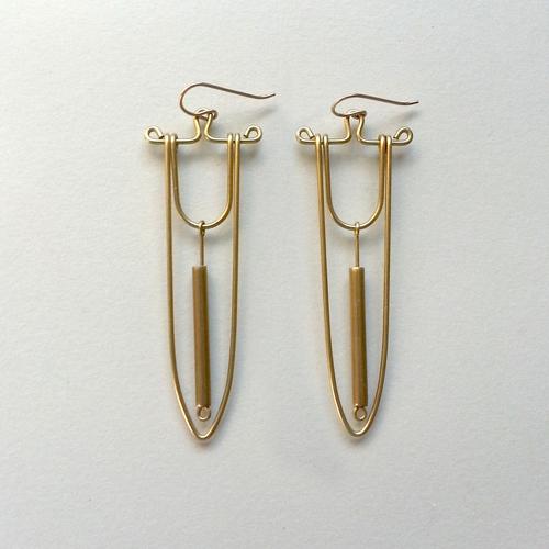Hellbent Spear & Bead Earrings