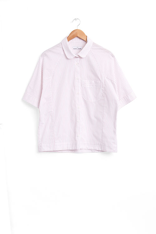 The Sleep Shirt Raglan Pajama Top Red and White Stripe