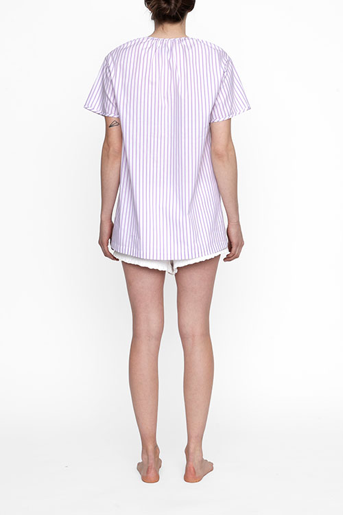 The Sleep Shirt Short Sleeve Nightshirt Raspberry