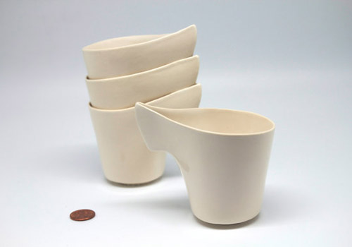Hannah June Curl Cup - White