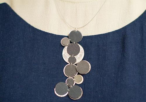 Dos Riberas Retro MOON Silver Pendant Necklace
