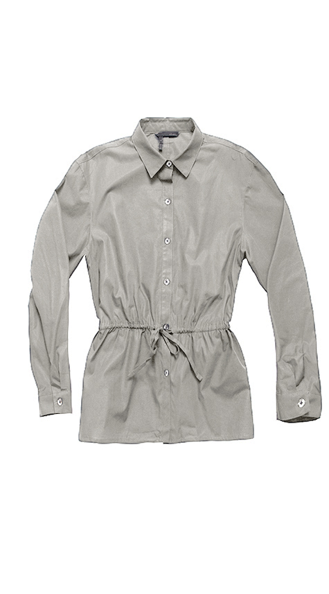 Obakki A-Line Shirt with Drawstring