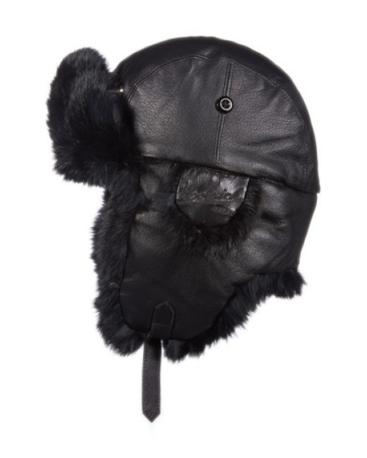 Woolrich Leather Aviator Hat