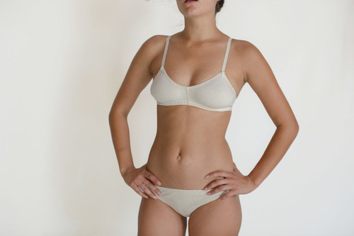 PANSY BRA & LOW RISE BOTTOM in NATURAL