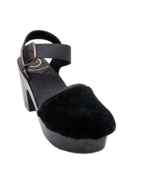 No. 6 Shearling Jane Platform in Black