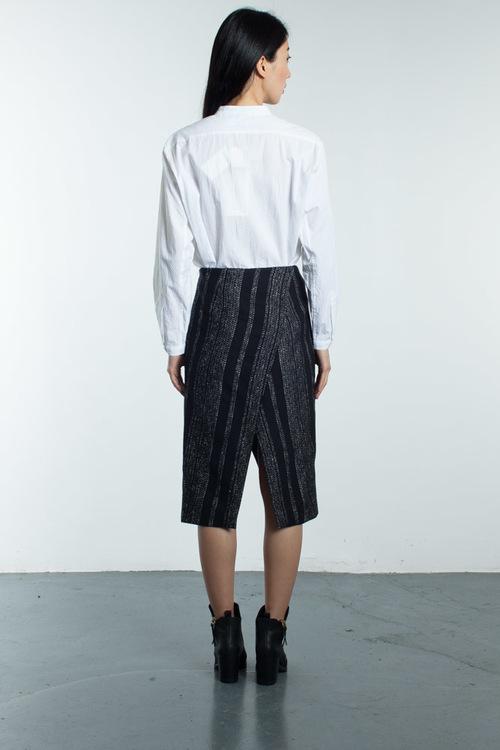 Apiece Apart Livia Lezat Woven Blanket Skirt