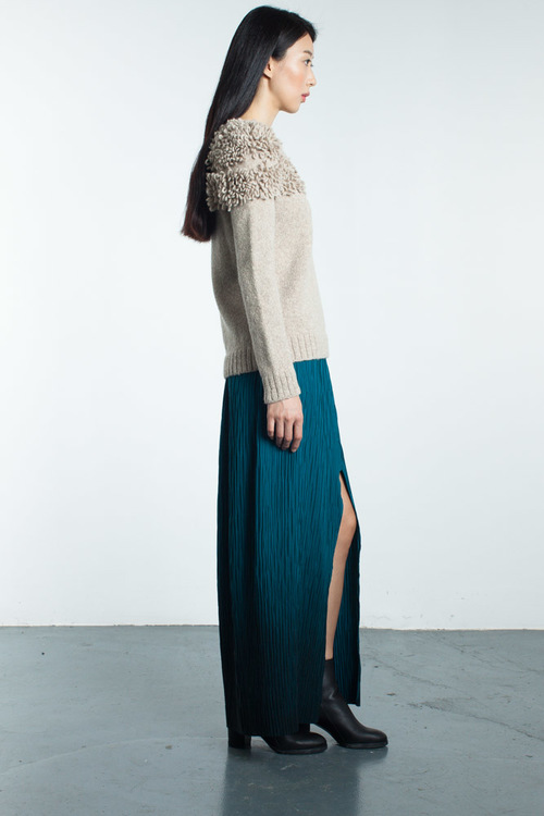 HARARE Airbrushed Pleated Skirt
