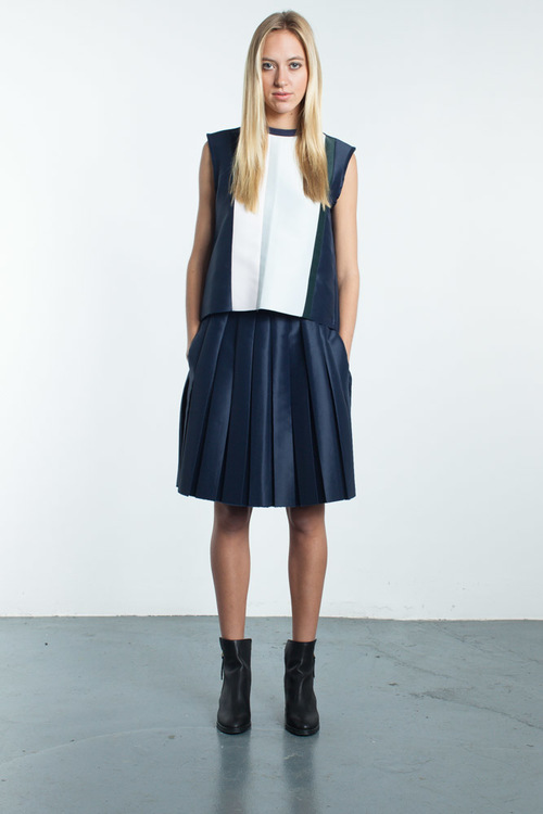 Steven Tai Pleated Skirt