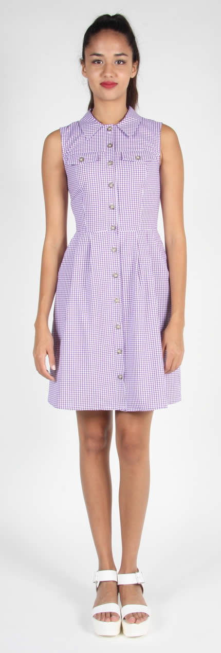 Birds of North America Lovebird Dress (Violet)