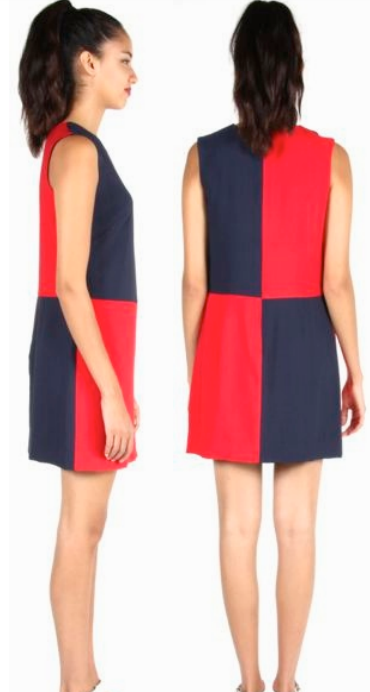 Birds of North America Vanga Dress (Red and Navy)