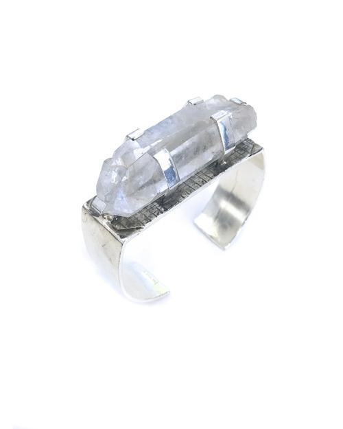 Unearthen Aras Silver and Quartz Cuff