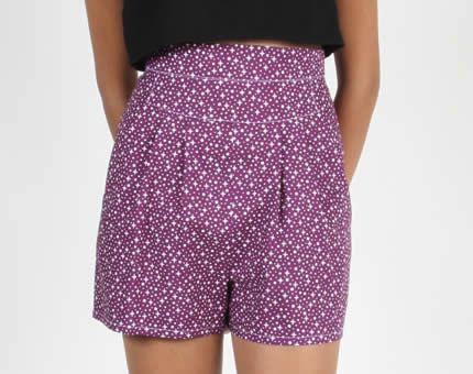 Birds of North American Wren Shorts (Purple Stars)