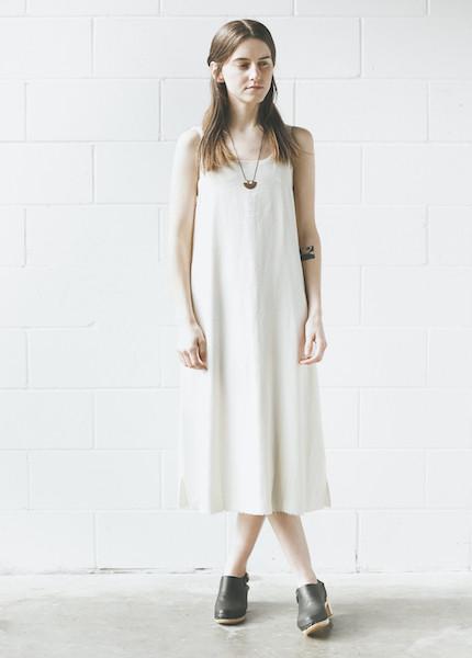 Lacausa - Reversible Silk Dress in Natural