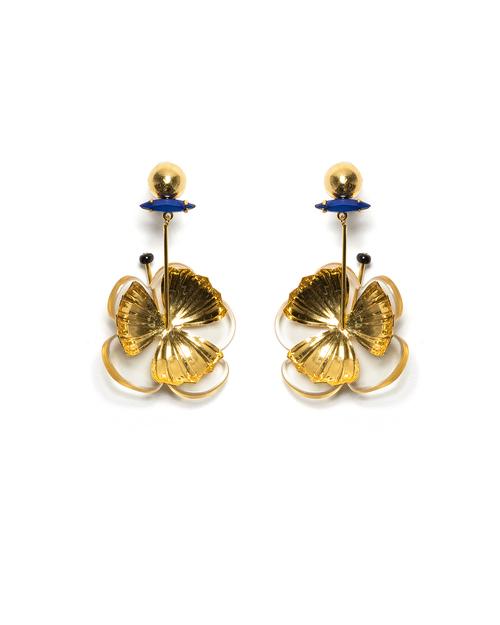 Lizzie Fortunato Tahitian Flower Earrings