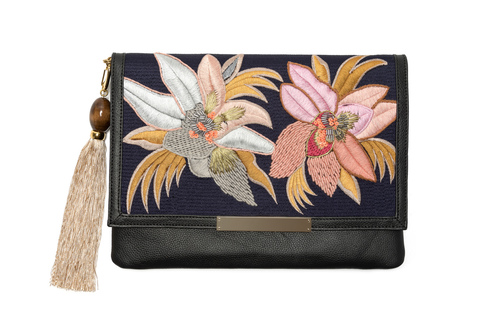 Lizzie Fortunato Port of Call Clutch in Tahitian Floral