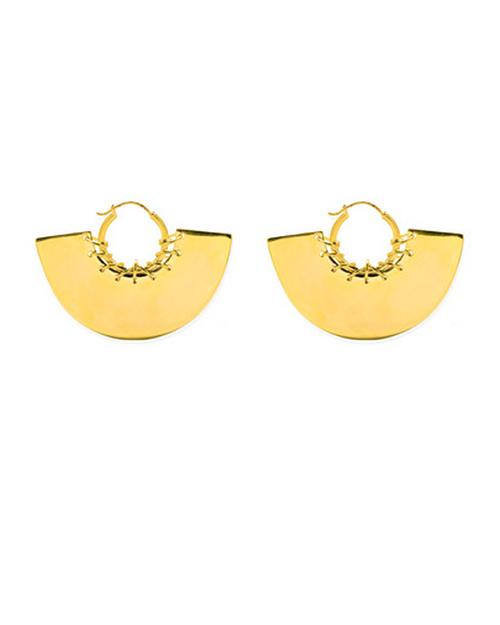 A Peace Treaty Gela Hoop Earrings in Gold