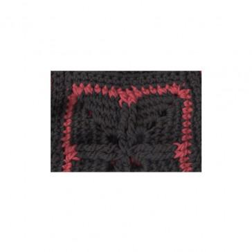 Pari Desai luna hand-crochet vest Black/Lava