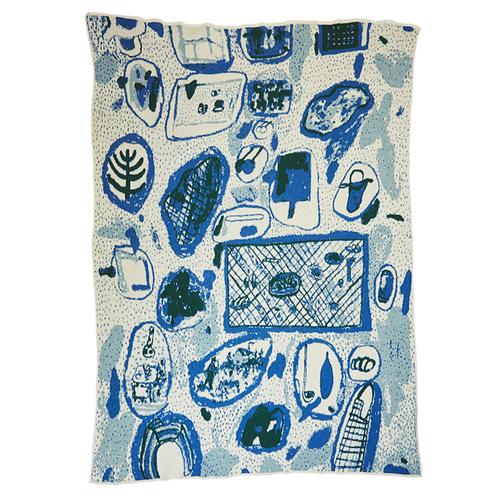 Hillery Sproatt Cluster Blanket in Blue