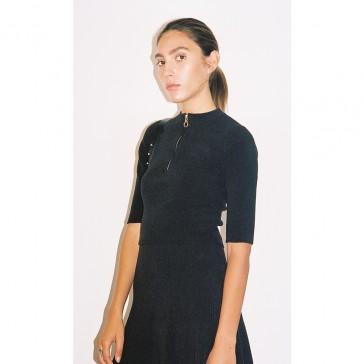 Pari Desai Fiona Flared Skirt Black