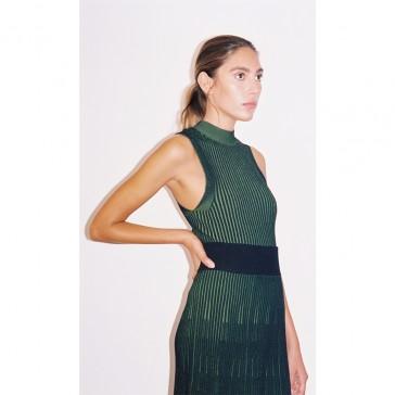 Pari Desai Gia Two-Tone Skirt Black / Fern