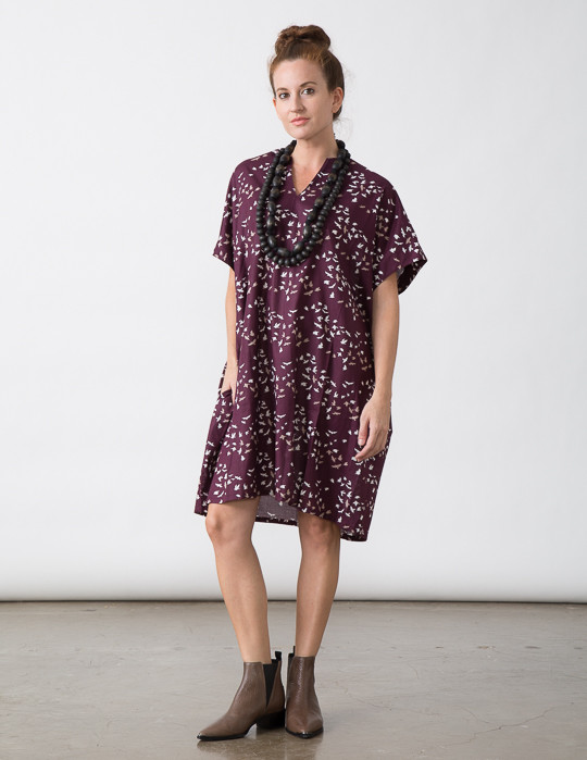 SBJ Austin Mary Dress in Bird Print