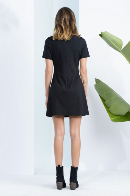 LUCCA Lace-Up Shift Dress
