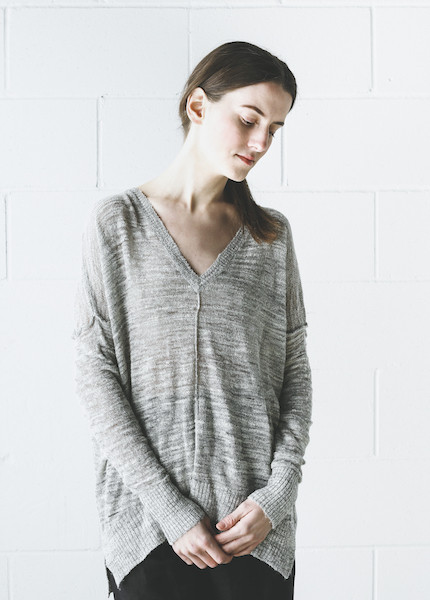 Line Knitwear - Ruby in Shadow