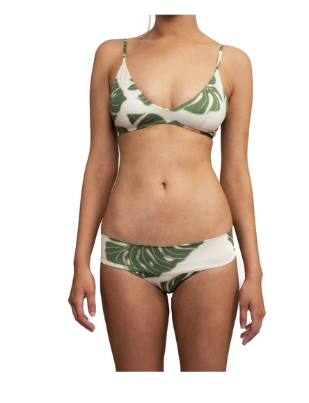 Greenlee Swim Bra Top & City Brief - Green Leaf Print