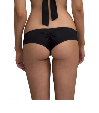 Greenlee Swim Convertible Bandeau Top & Euro Short Bottom - Black