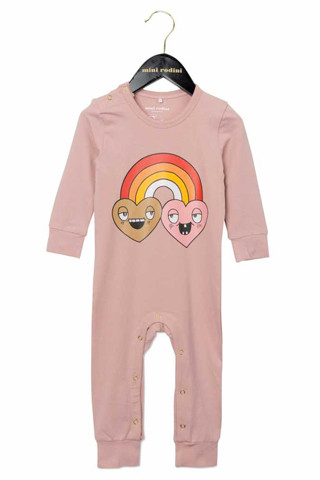 Mini Rodini Rainbow-Print Long Legged Onesie
