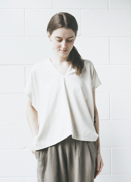 Atelier Delphine Celeste Top in Grain