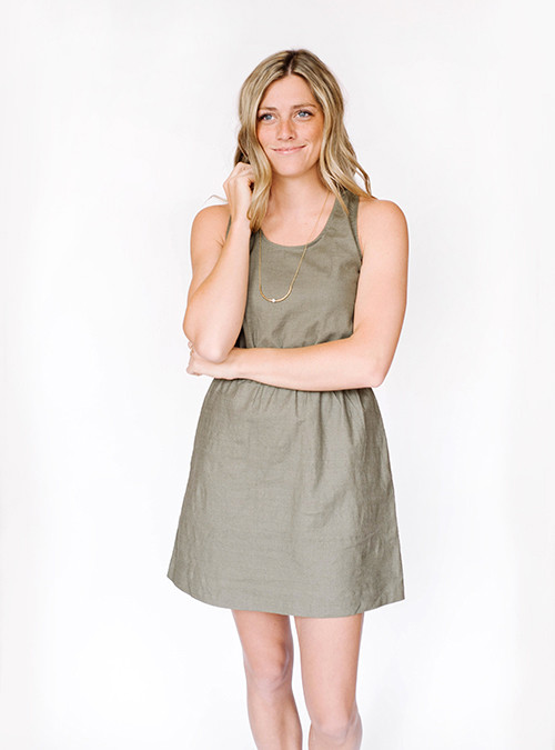 Bridge & Burn Fleer Olive Dress