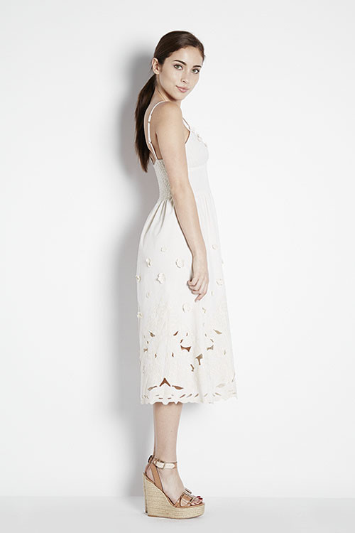 Miusigny by Miho Floral Applique Midi Dress