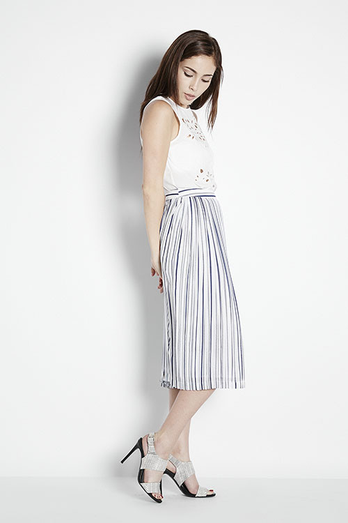 Illusion Striped Skirt