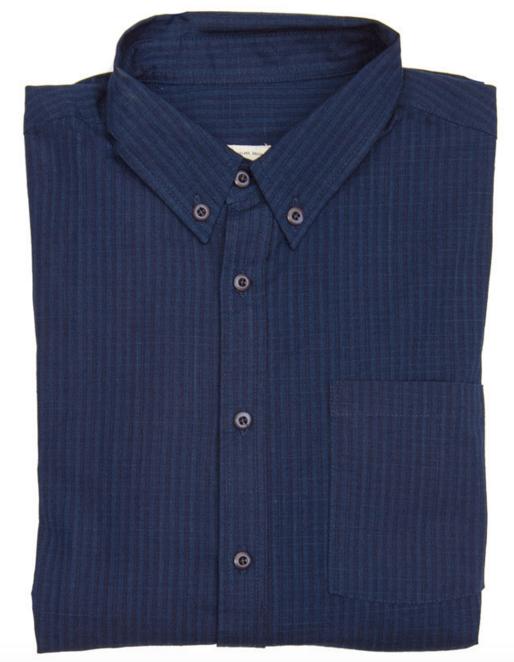 Fulton Indigo Grid Shirt