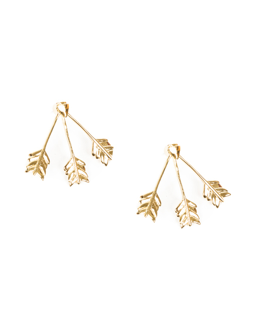 Pamela Love Triple Arrow Ear Jacket in Yellow Gold